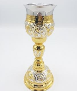 Potir mic aurit si argintat 19-91